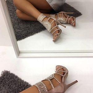 945bb19c05d Public Desire Shoes - Cleopatra Embellished Stiletto Heel
